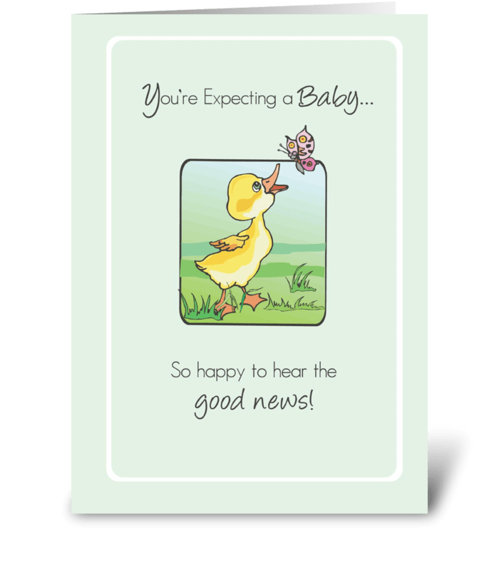 2783 Expecting Baby Congratulations Duck greeting card
