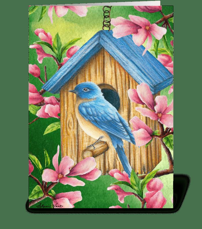 Sweet spring bluebird send this greeting card designed by sweet spring bluebird greeting card m4hsunfo