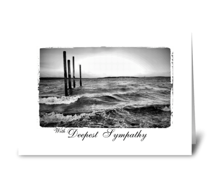 rough sea deepest sympathy greeting card