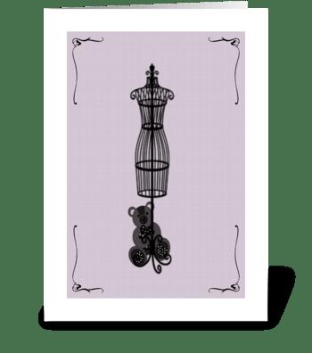 Purple Bear greeting card