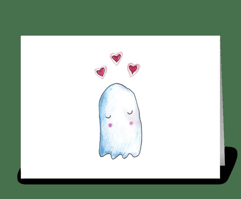 Boo's in Love greeting card