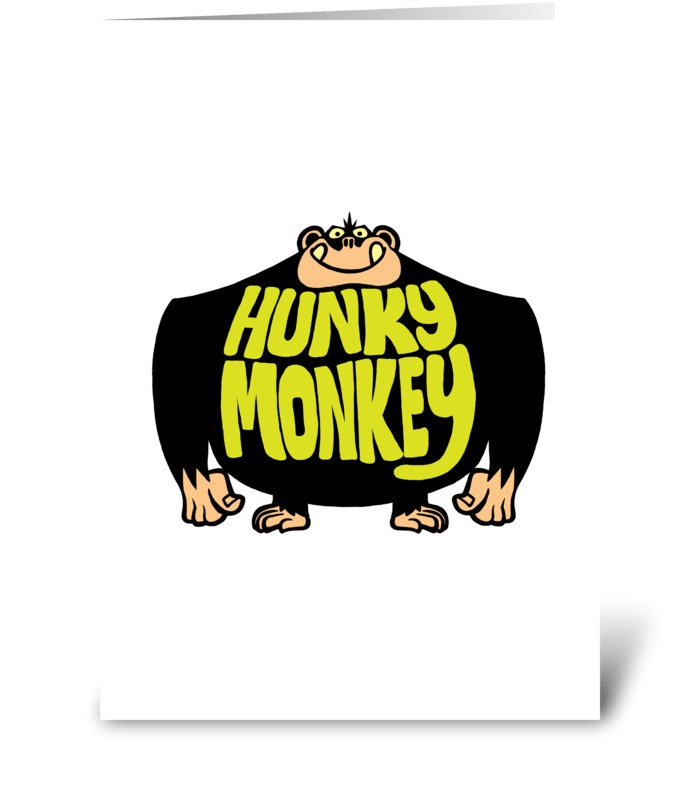 Hunky monkey send this greeting card designed by stiktoonz hunky monkey greeting card m4hsunfo