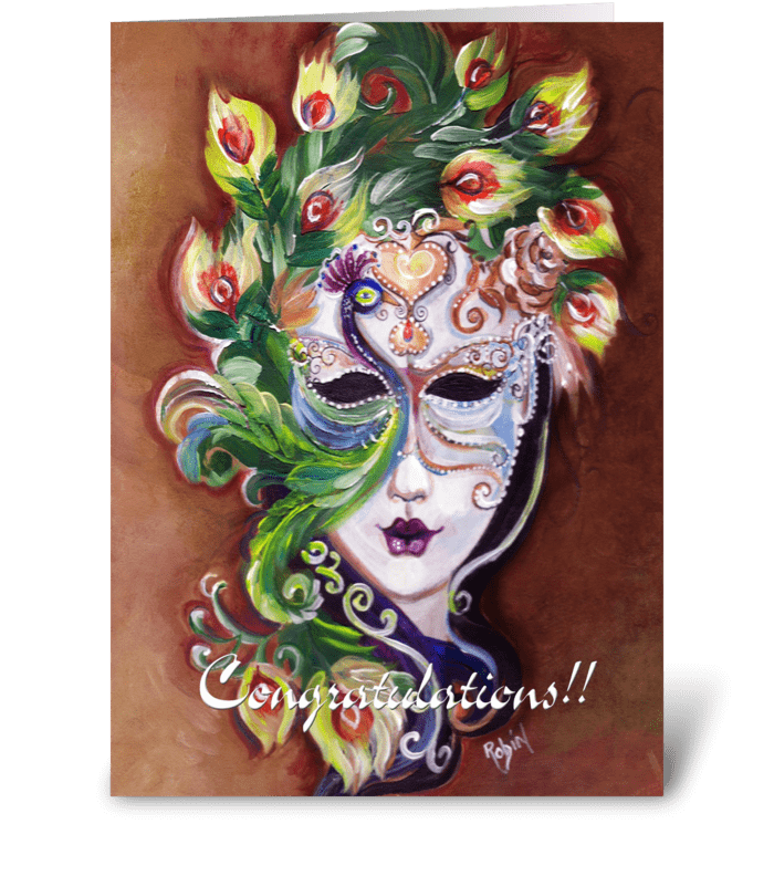 Festive Congratulations Card greeting card
