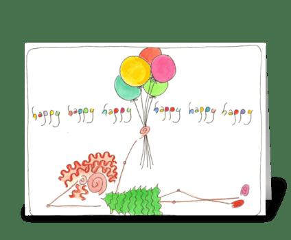 happy, happy, happy greeting card