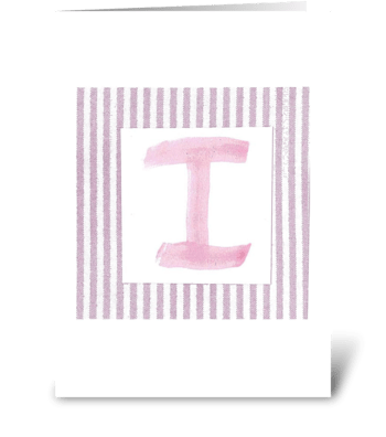 I - Baby Girl greeting card