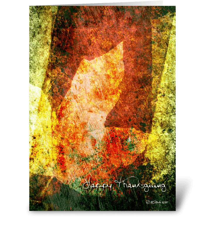 Fall Leaf Abstract Thanksgiving Card greeting card