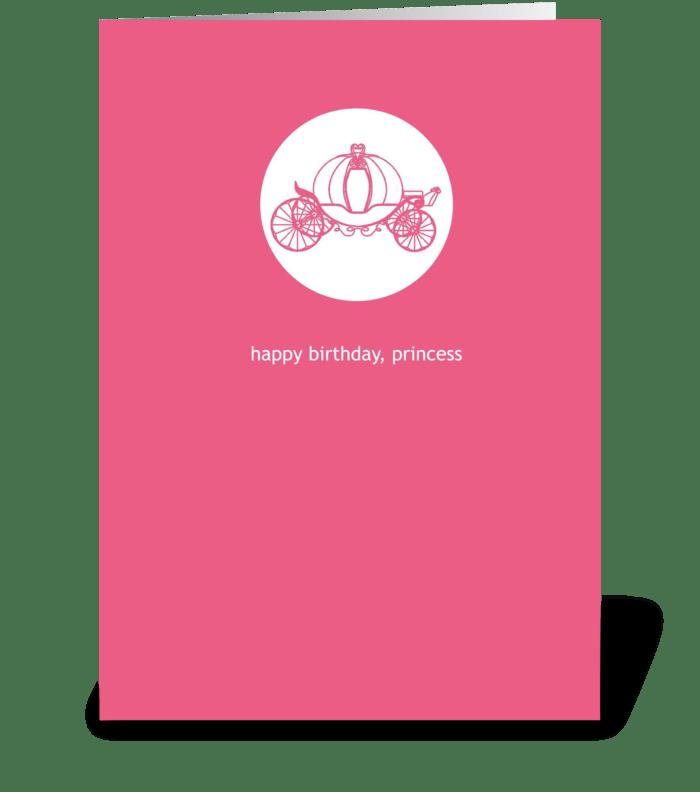 A princess birthday send this greeting card designed by scriptiva a princess birthday greeting card m4hsunfo