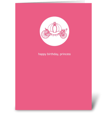 A Princess Birthday greeting card