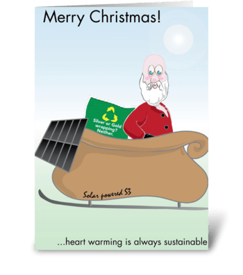 Sustainable Christmas greeting card