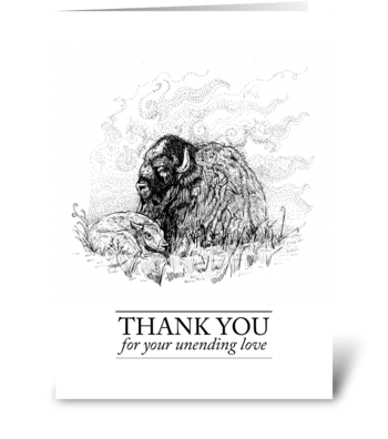 Buffalo Thank You Card greeting card