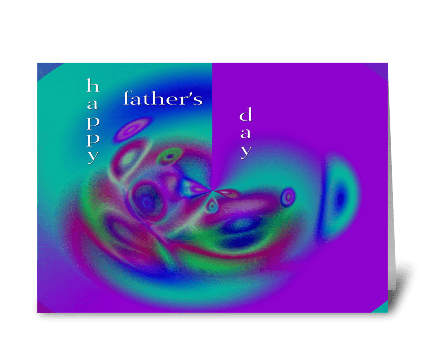 Happy Father's Day abstract greeting card