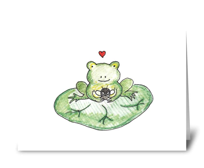 Frog & Fly greeting card
