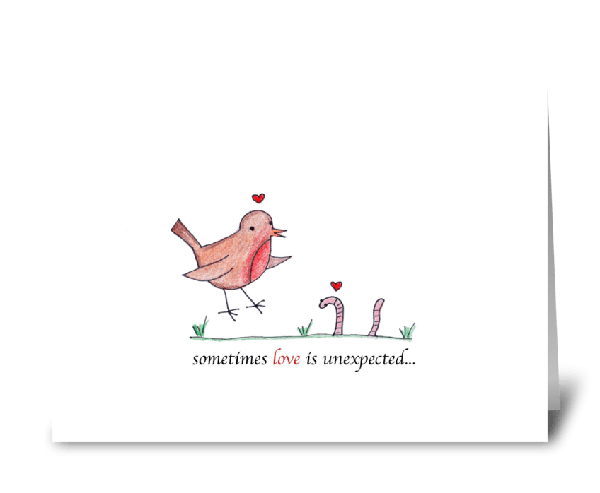 Unexpected Love greeting card
