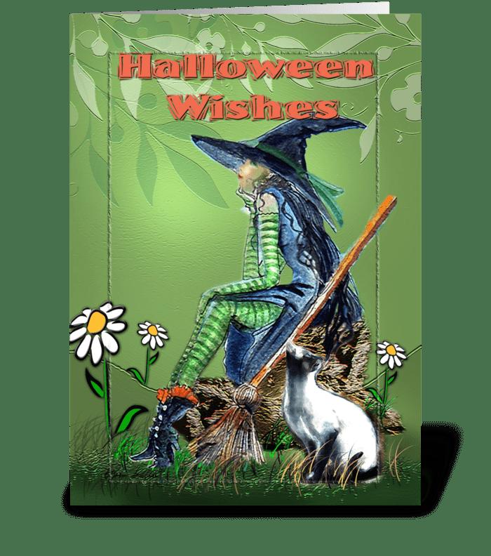 A Halloween Wish greeting card