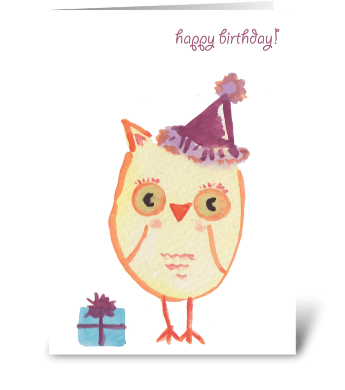 Happy Birthday Owl Send This Greeting Card Designed By Lady Lucas