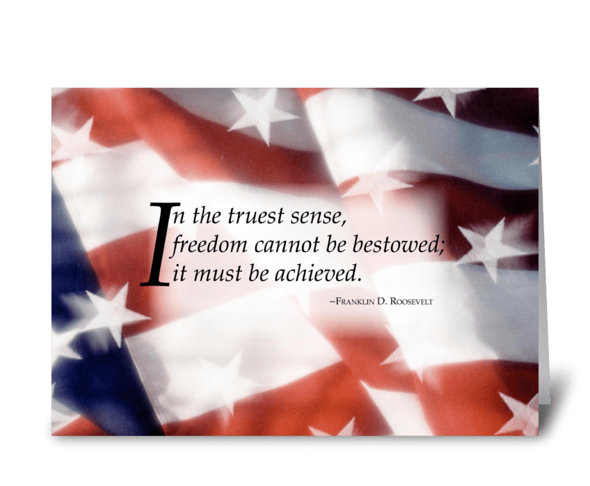 3445 Freedom Flag greeting card