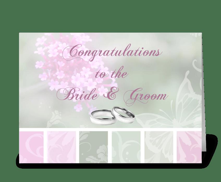 congratulations bride groom greeting card
