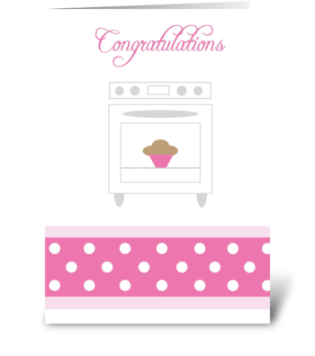 Bun in the oven Pink greeting card