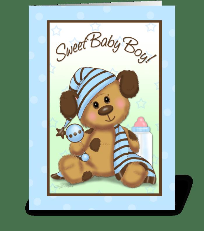 Sweet baby boy send this greeting card designed by svp design sweet baby boy greeting card m4hsunfo