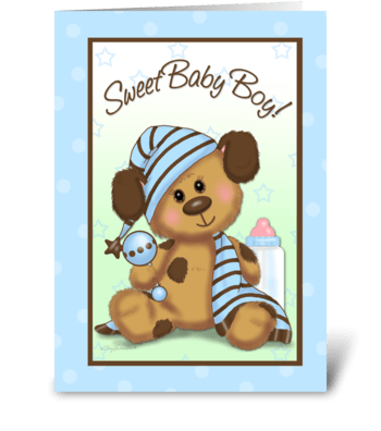 sweet baby boy greeting card
