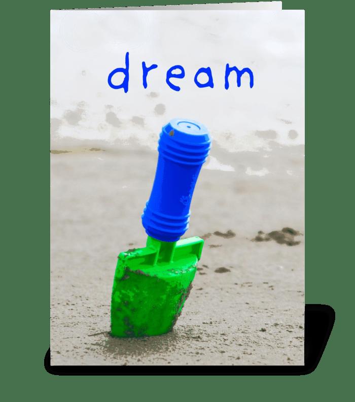Dream greeting card