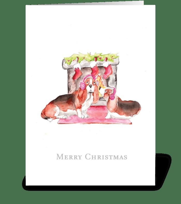 Keeping Warm at Christmas greeting card