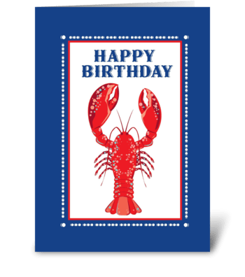 Lobster Happy Birthday greeting card