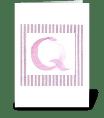 Q - Baby Girl greeting card