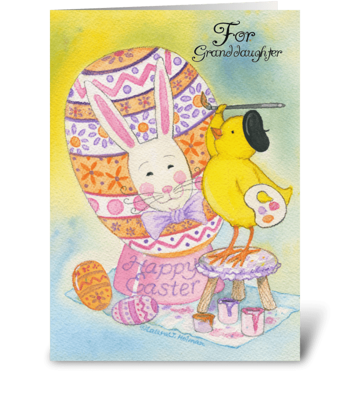 Happy Easter for Granddaughter greeting card