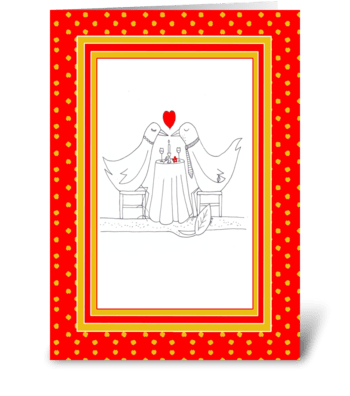 Valentine Love Doves greeting card