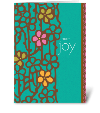 pure joy greeting card