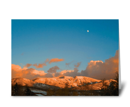 Seasons: Mid-Winter on the Mountain greeting card