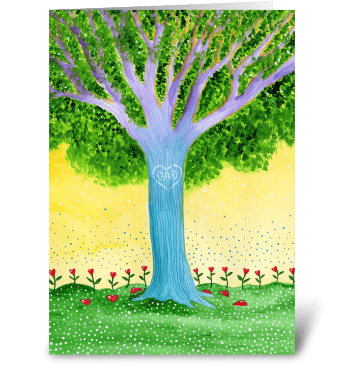 Father's Day Dad Tree greeting card