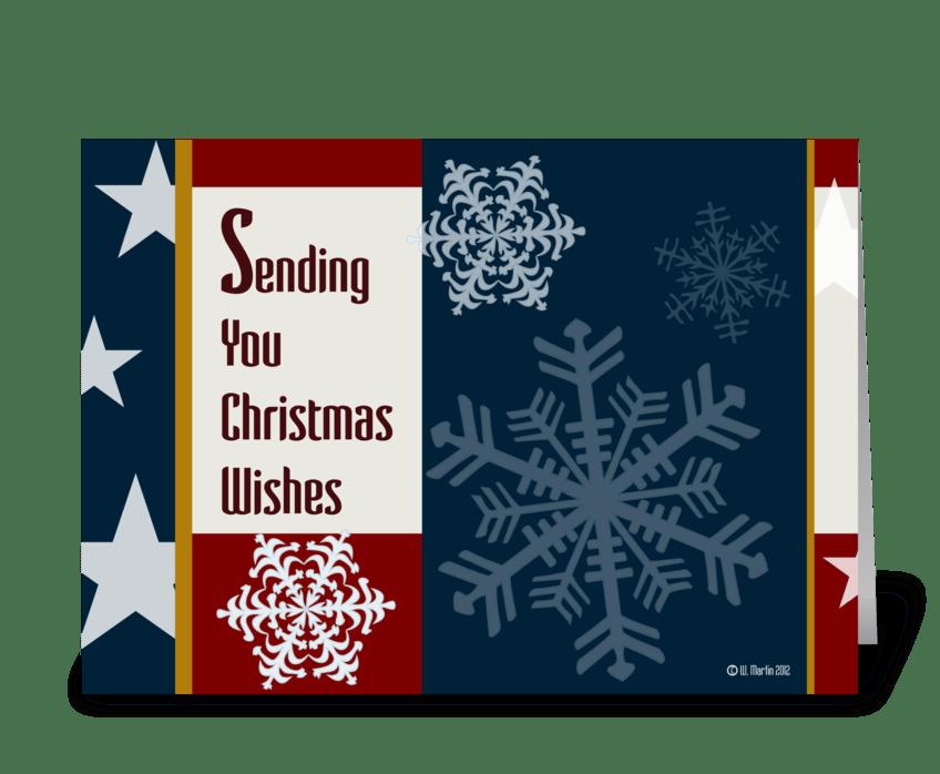 Retro Patriotic Christmas Card - Send this greeting card designed by ...