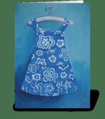 Cora's dress greeting card
