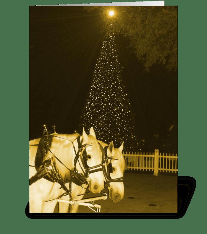 Sleigh Bells Ring greeting card