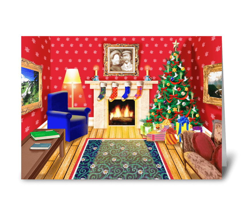 Homestyle Christmas greeting card