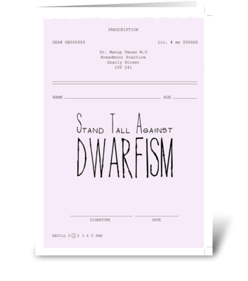 Dwarfism * Inspiration-ill greeting card