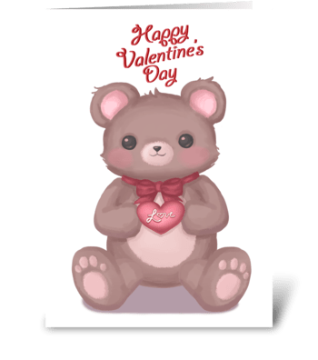 Valentine's Teddy Bear greeting card