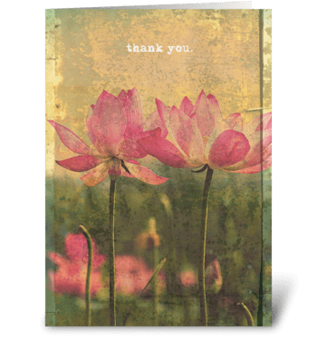 thank you. greeting card