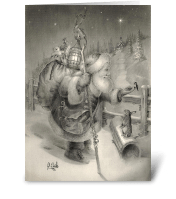 Olde Fashioned Christmas greeting card