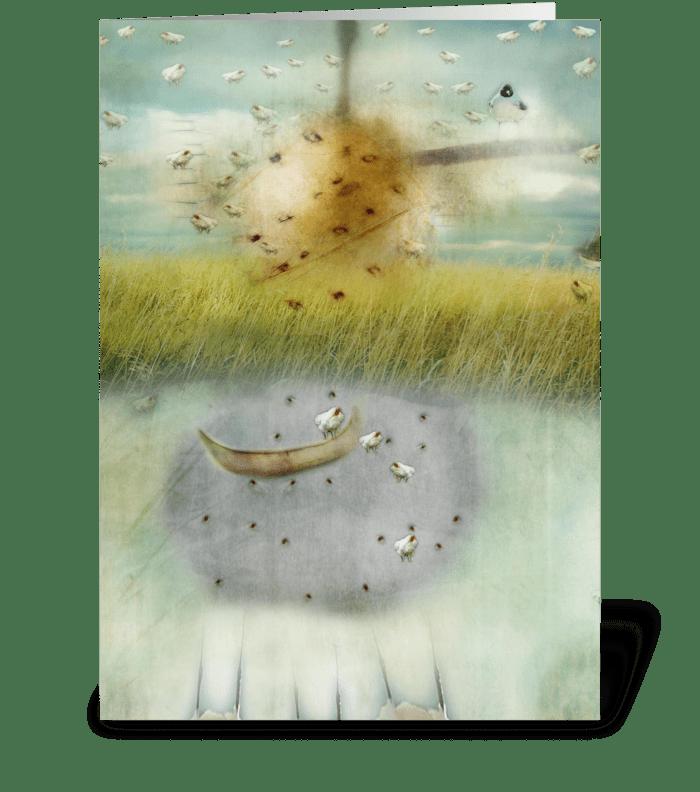 Hipstabird Series greeting card