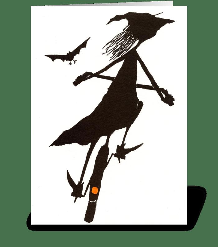 Happy Hallowheelin' greeting card