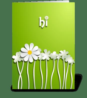 hi greeting card