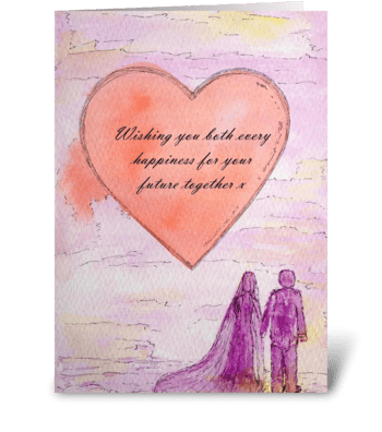 Wedding Heart greeting card