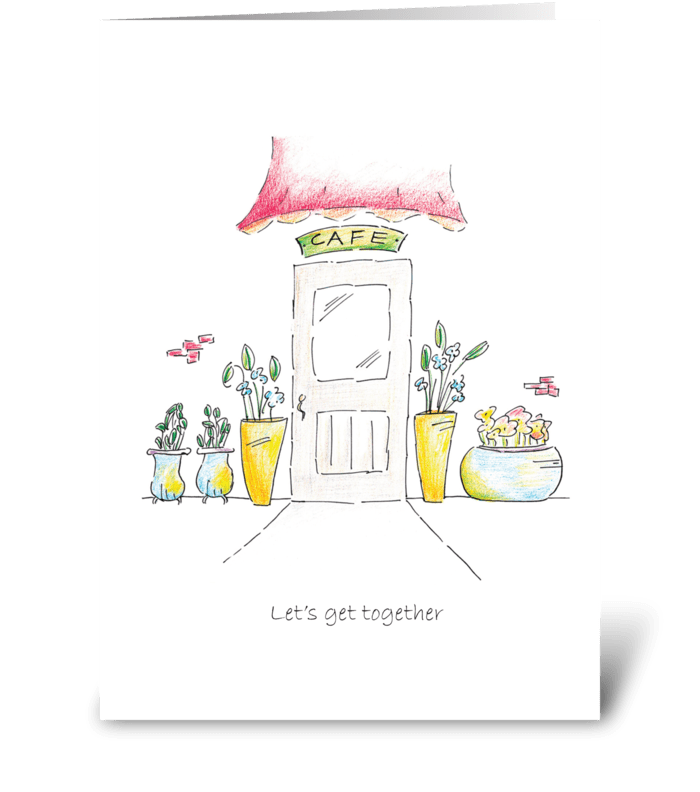 Let's Get Together greeting card