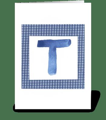 T - Baby Boy greeting card