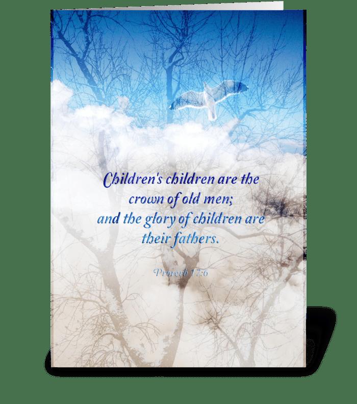 Glory of children greeting card