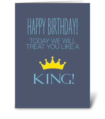 Birthday King greeting card