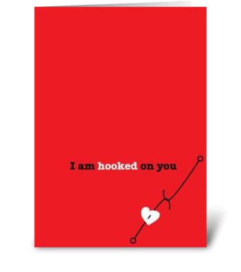 Hooked greeting card